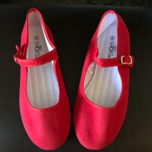 Shoes - Ladies size 8 canvas Mary Janes